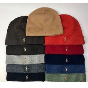 Polo Ralph Lauren Merino Wool Ribbed Beanie Hat
